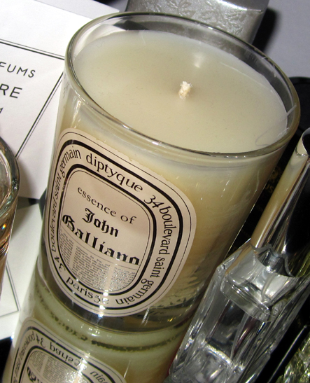 Diptyque candle Essence of John Galliano[shot byP